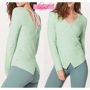 Lulu Wrap It Back Sweater Reversible Open Back 4